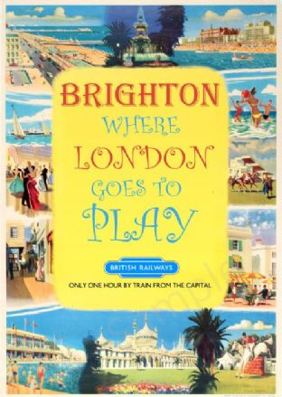 London to Brighton Tourist Advert